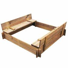 vidaXL Sandbox FSC Impregnated Wood Square Kids Children Sandpit Toy Garden