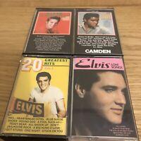 Elvis Presley Music Cassette Tapes Bundle Of 4