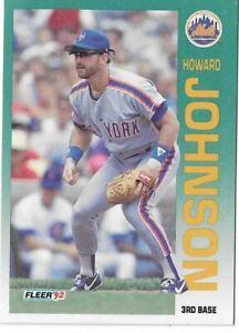 1992 Fleer Baseball Trading Card New York Mets #509 Howard Johnson