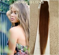 "Hair extensions weave weft human remy hair AAA16""18""&20"" #8 Mid Warm Brown UK"