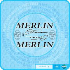 MERLIN USA zone Decalcomanie Bicicletta Trasferimenti Adesivi-Set 8-Nero