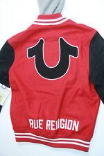 True Religion HAND PICKED VARSITY HOODED MENS  Large L   SLim Fit