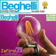 BEGHELLI LAMPADINA LED FILAMENTI ZAFIRO GOCCIA 6W 60W E27 LUCE CALDA ARREDO NEW!