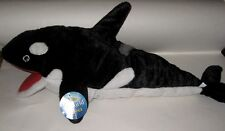 "Retired 20"" NWT BIG Plush Orca Whale ARM PUPPET SEA WORLD SHIPS WORLDWIDE Shamu?"