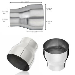 """Universal 3"""" ID to 2.03"""" OD Exhaust Reducer Connector Pipe 304 Stainless Steel"""