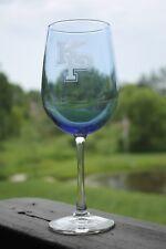 2 USMMA US MERCHANT MARINE ACADEMY WINE GLASSES SAND CARVED KP ACTA NON VERBA