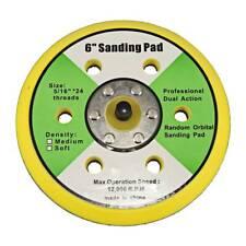 """6"""" Hook Loop Face Sanding Pad Air Vacuum Pneumatic Sander"""
