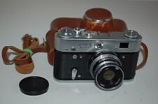 Fed-3 type 2 Vintage Soviet Rangefinder Camera. With Case & Cap. 1968. (489676)