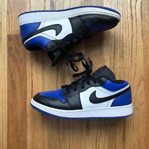 Nike Air Jordan 1 One Retro Low Royal Blue Black Toe White GS Sz 6.5Y CQ9486-400