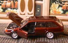 AUDI 100 AVANT BREAK MARRON SCHABAK 1055R 1/43 GERMANY NEW 1991 DARK RED METAL