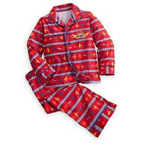 Disney Store Authentic Planes Fire & Rescue Pajama Set Boys Size 3 Toddler PJs