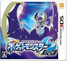 NEW Nintendo 3DS Pokemon Moon w/BONUS Promo Card Multi Language English JAPAN FS