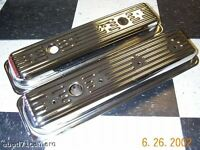 Sbc Small Block Chevy Center Bolt Chrome Valve Covers  Vortec 5.0 5.7 Short