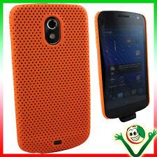 Pellicola+Custodia GRID Arancione per Samsung Galaxy Nexus I9250 cover sottile