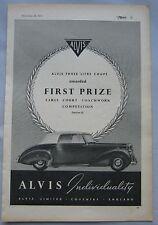 1951 Alvis Three Litre Coupe Original advert
