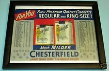 STEELERS vs EAGLES FRAMED ROSTERS 1952 CHESTERFIELD AD