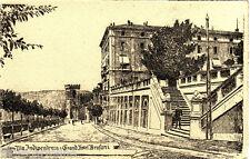 #PERUGIA: VIA INDIPENDENZA E GRAND HOTEL BRUFANI- litogr. G. TILLI