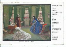 """LONDON - PICCADILLY THEATRE """"BARRETTS of WIMPOLE STREET"""" 1935 Advert Postcard"""