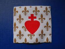 écusson insigne tissu patch militaire religieux Fleur de Lys Sacré Cœur de Jésus