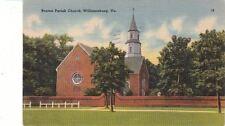 Postcard Bruton Parish Church Williamsburg VA