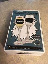 New chalkboard champagne glasses