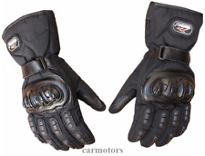Motorcycle Men's Cycling Waterproof Winter keep Warm Leather Protective Gloves L