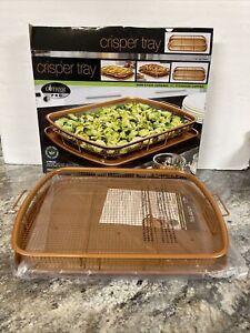 """16"""" Gotham Steel Pro XL Crisper Tray Crispy Foods in Your Oven Non Stick Ceramic"""