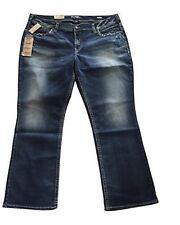 NWT $100 Silver Jeans Plus Suki MidSlim Boot Super Stretch Denim Jeans 24 x 31