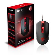 MSI Interceptor DS100 Wired GAMING Mouse, LED Backlit, USB Gold-plated Connector