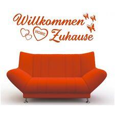Wandtattoo Spruch  Willkommen Zuhause Welcome Aufkleber Sticker Wandaufkleber 8
