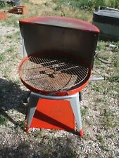 Vintage Structo 24 Red Hooded Bbq Grill Used White Wheel Tires