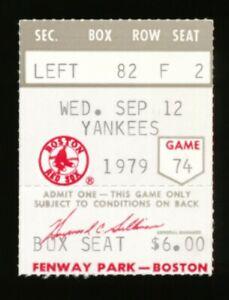 1979 Carl Yastrzemski 3000 Hit Stub Red Sox vs Yankees 9/12/79 Fenway Park