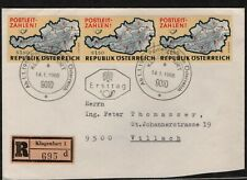 Austria 1966 Registered First Day Cover Maps Of Austria With Postal Zone #S