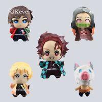 5'' Demon Slayer: Kimetsu no Yaiba Plush Keychain Toy Soft Mini Pendant Doll 5pc