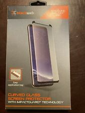 BLACKWEB - CURVED CLASS SCREEN PROTECTOR - FOR GALAXY S8+ PLUS - CLR/BLK  (C214)