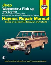 Haynes 50029 Service Repair Manual Jeep Wagoneer & Pick Up 1973 thru 1991