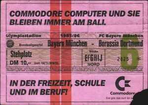 3046 Ticket BL 85/86 FC Bayern München - Borussia Dortmund, 09.11.1985