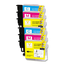 6 COLOR CMY Ink Cartridge Compatible for Brother LC61 MFC J220 J265W J270W J410W