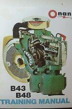 Onan B43 B48 Engine Service Training Manual Garden Tractor Generator Skid Steer