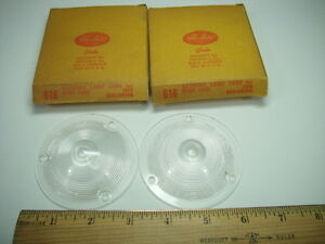 1959 Ford Galaxie Fairlane 500 Rectractable Ft Turn Signal Lenses Lens PR NEW