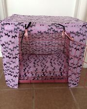 MADE TO MEASURE DOG / PUPPY CRATE / CAGE COVER / SCOTTIE DOGS FABRIC / 4 COLOURS