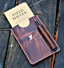Handmade Cover NOTO Wallet Field Notes Sleeve Leather Wheat Harvest Cream