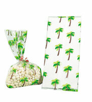 24 TROPICAL PALM TREE CELLO GIFT goody BAGS LUAU party FAVORS