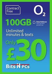 O2 £30 Nano Bundle Pay As You Go SIM Card