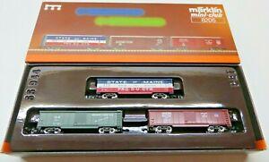 Märklin 8205 Z Gauge Mini Club 3-teiliges US Freight Car Set Boxed
