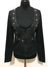 JUST CAVALLI Maglietta Donna Cotone Cotton Woman T-Shirt Sz.S - 42