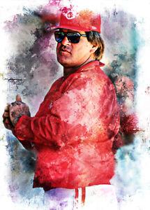 Pete Rose Cincinnati Reds 1/5 ACEO Limited Fine Art Print Card By:Q