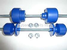 SUZUKI DRZ 400 SUPERMOTO CRASH MUSHROOMS PADDOCK BOBBINS REAR FRONT BLUE    S6G