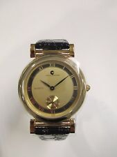 B35 NEW JB CHAMPION Gold Dress Leather Band Unisex WATCH Round VINTAGE Dress