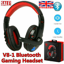 Wireless Bluetooth Gaming Headset Headphones Stereo w/Mic for PC